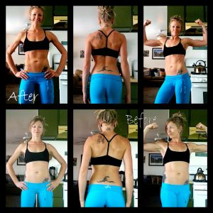 Before and after: 30 days of clean eating, and at home workouts 5 times a week.