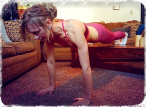 Elevated walking abs/frogger combo - attacking my core and arms simultaneously.