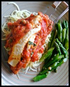 Clean chicken parmesan over spaghetti squash!
